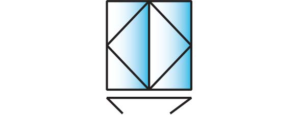 image of a 2 pane configuration for smarts visofold