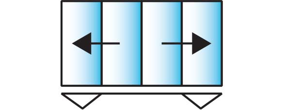 image of a 4 pane configuration for smarts visofold