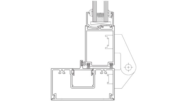 technical frame specification image for horizontal section on shopline system