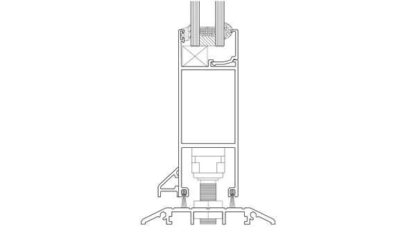 technical frame specification image for vertical section on shopline system