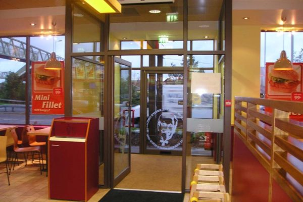 smarts shopline system from the inside of a kfc restaurant