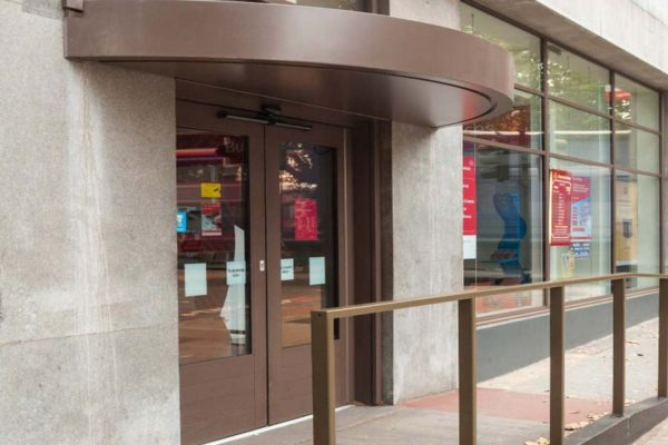 image of the outside of a post office which utilises the aluminium smart wall system