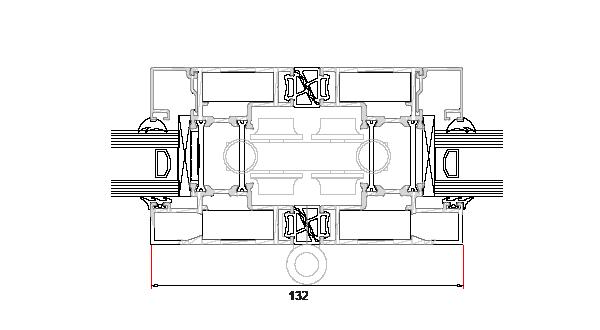 technical frame specification diagram for visofold 1000