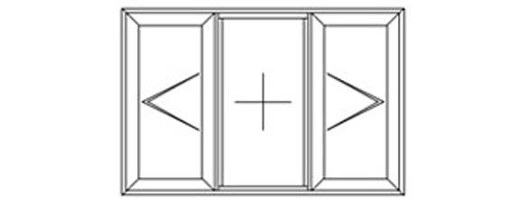 1 fixed 1 left 1 right hung diagram