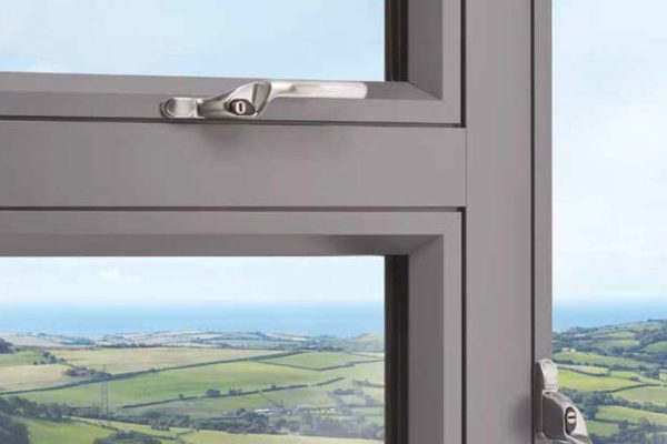 Close up of frame details on the OW 80 Aluminium Casement window
