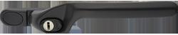 crank handle black grey cutout