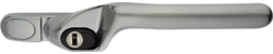 crank handle brushed aluminium cutout