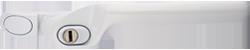 crank handle dark white cutout