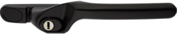 crank handle jet black cutout