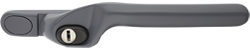 crank handle slate grey cutout