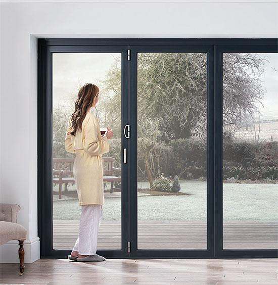 Ob 49 door range winter woman stood looking out