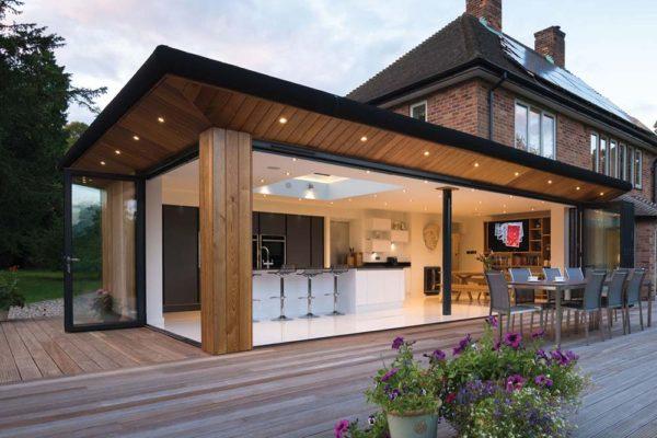 large sussex home ob 49 bi fold conservatory Origin