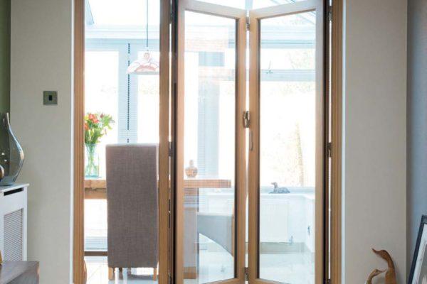 Three door ob 49 configuration kitchen Single and Bi-fold Origin Sussex